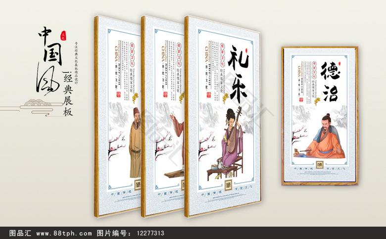儒家文化墙画  儒家文化宣传展板设计 儒家文化挂图 儒家文化图片素材