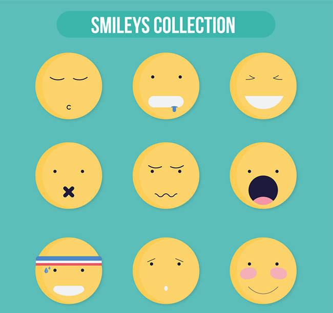 图品汇 设计元素 卡通手绘 圆脸表情矢量  上图作品的源文件由图品汇图片