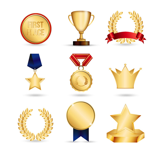 时尚金杯奖杯设计图片