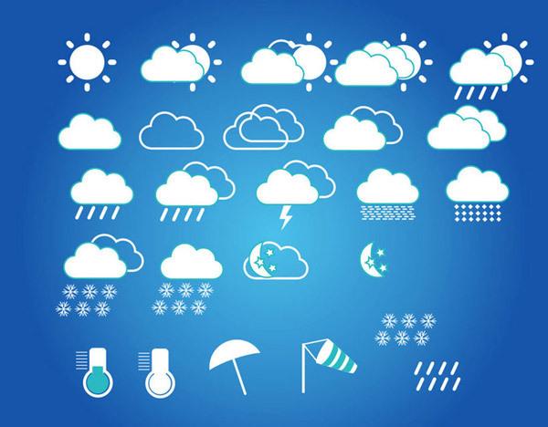 图品汇 设计元素 图标元素 天气预报标志  天气预报标志矢量素材,天气