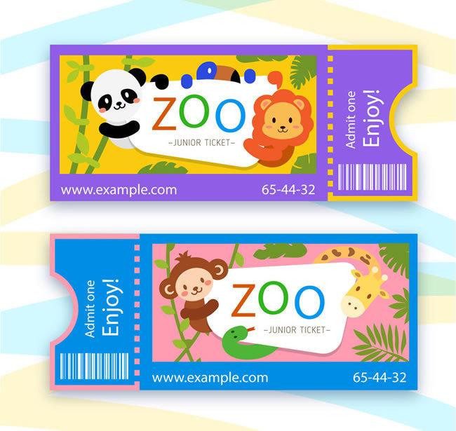 动物园门票矢量图