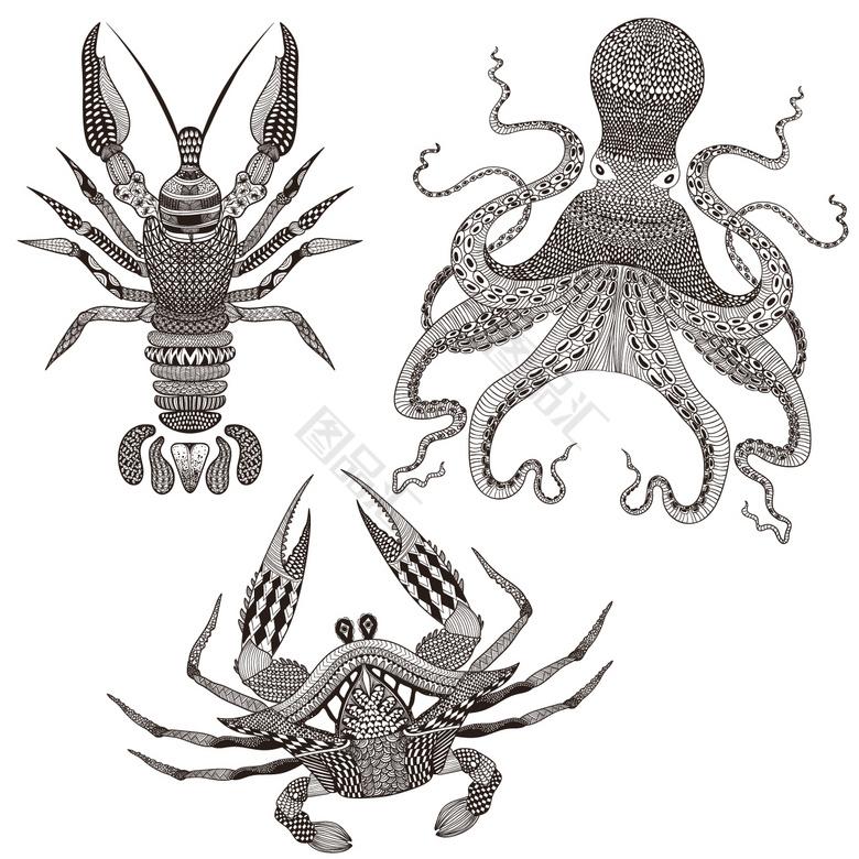 人物矢量等动物章鱼_矢量章鱼蚂蚁_章鱼矢量全职猎人素材篇素材图片