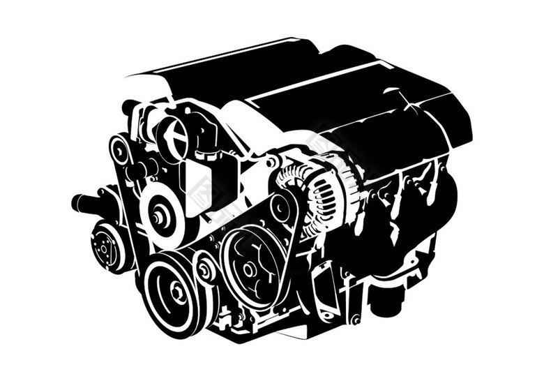 发动机 机械 设计元素 设计素材 免抠素材 汽车零件 汽车发动机