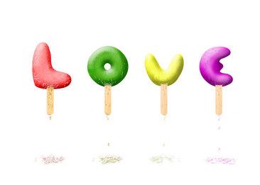 love字体设计素材kfc设计vi图片