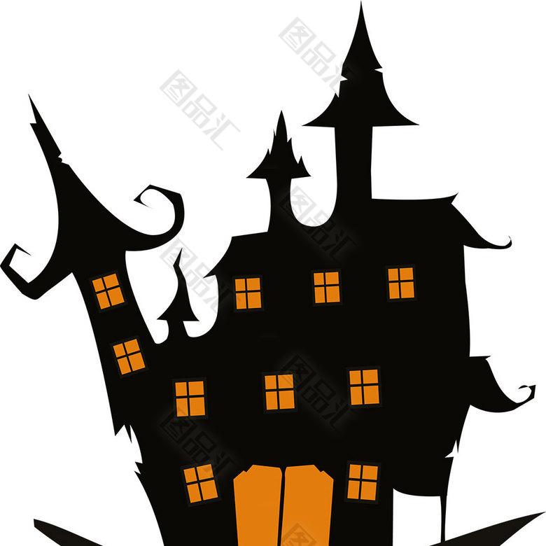 图品汇 设计元素 节日元素 恐怖城堡素材  恐怖城堡 城堡 万圣节 夜晚