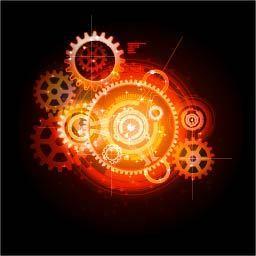 创意机械工业齿轮名片 图品汇