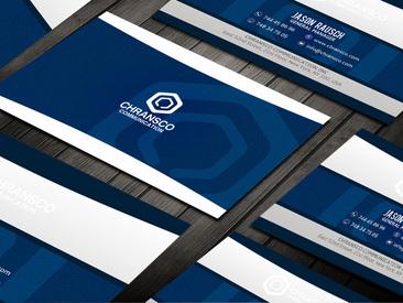 蓝色创意科技感IT名片设计
