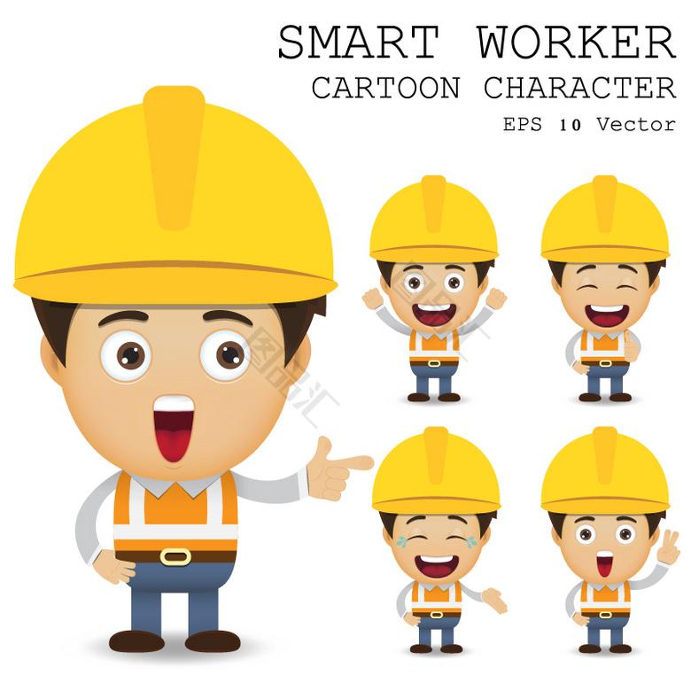 卡通建筑工人 建筑工人卡通 卡通建筑工人 图品汇