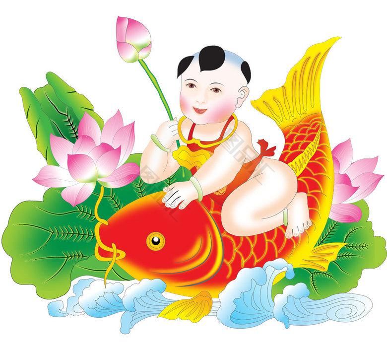 骑鱼的娃娃_骑鱼的娃娃_骑鱼娃娃_图品汇